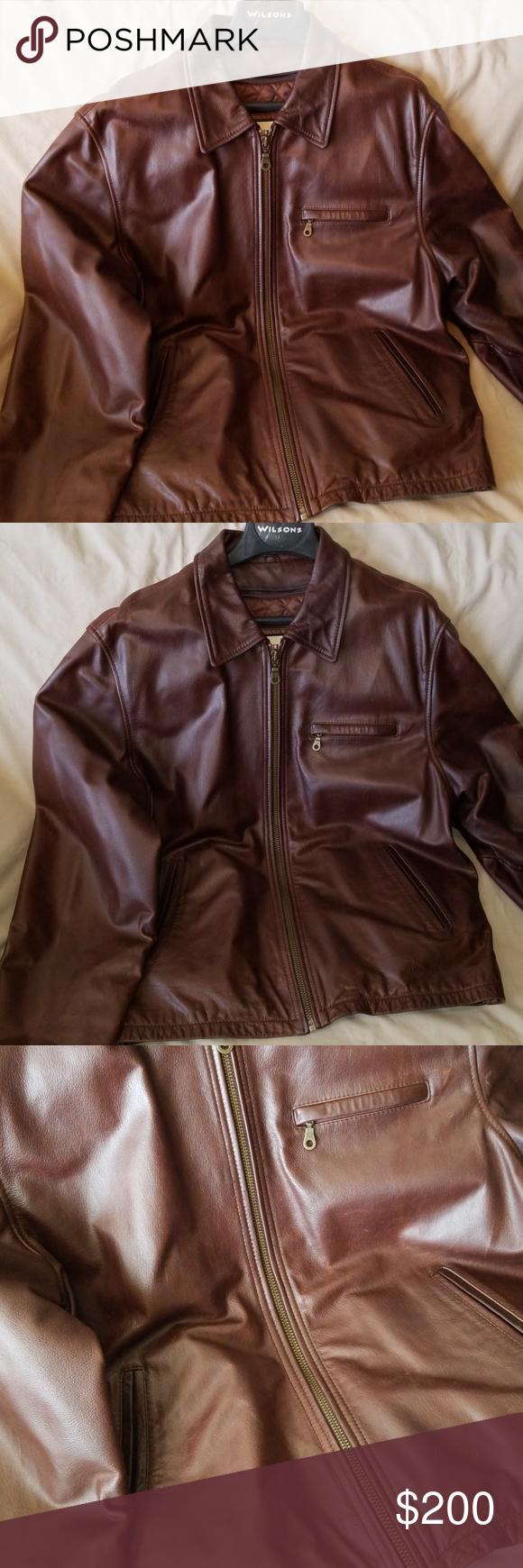 Vintage Wilsons Leather Jacket Leather jacket, Wilsons