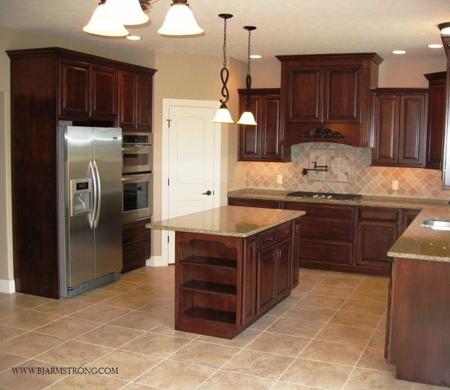 Stainless Steel Kitchen Cabinets With Oven: Kitchen Cabinets, Lighting And Flooring With Stainless