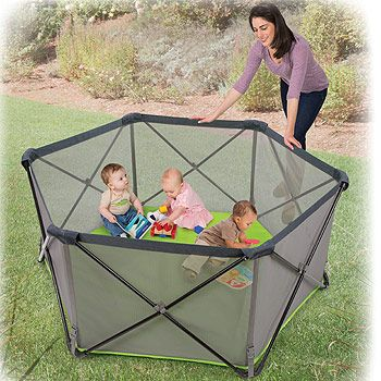 Pop N Play Summer Infant Portable Playard Canopy Kids Baby Child Outdoor Safety