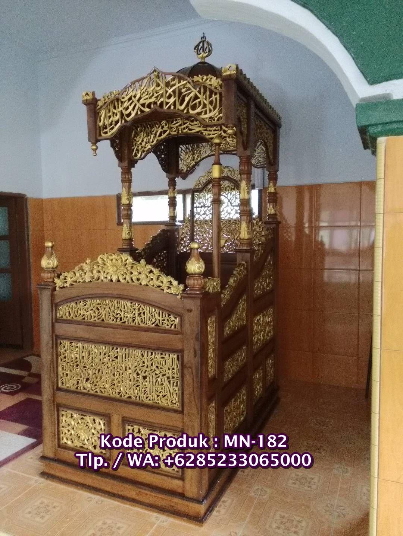 Mimbar Masjid Minimalis Kampung Koja Kaligrafi Arab Dari