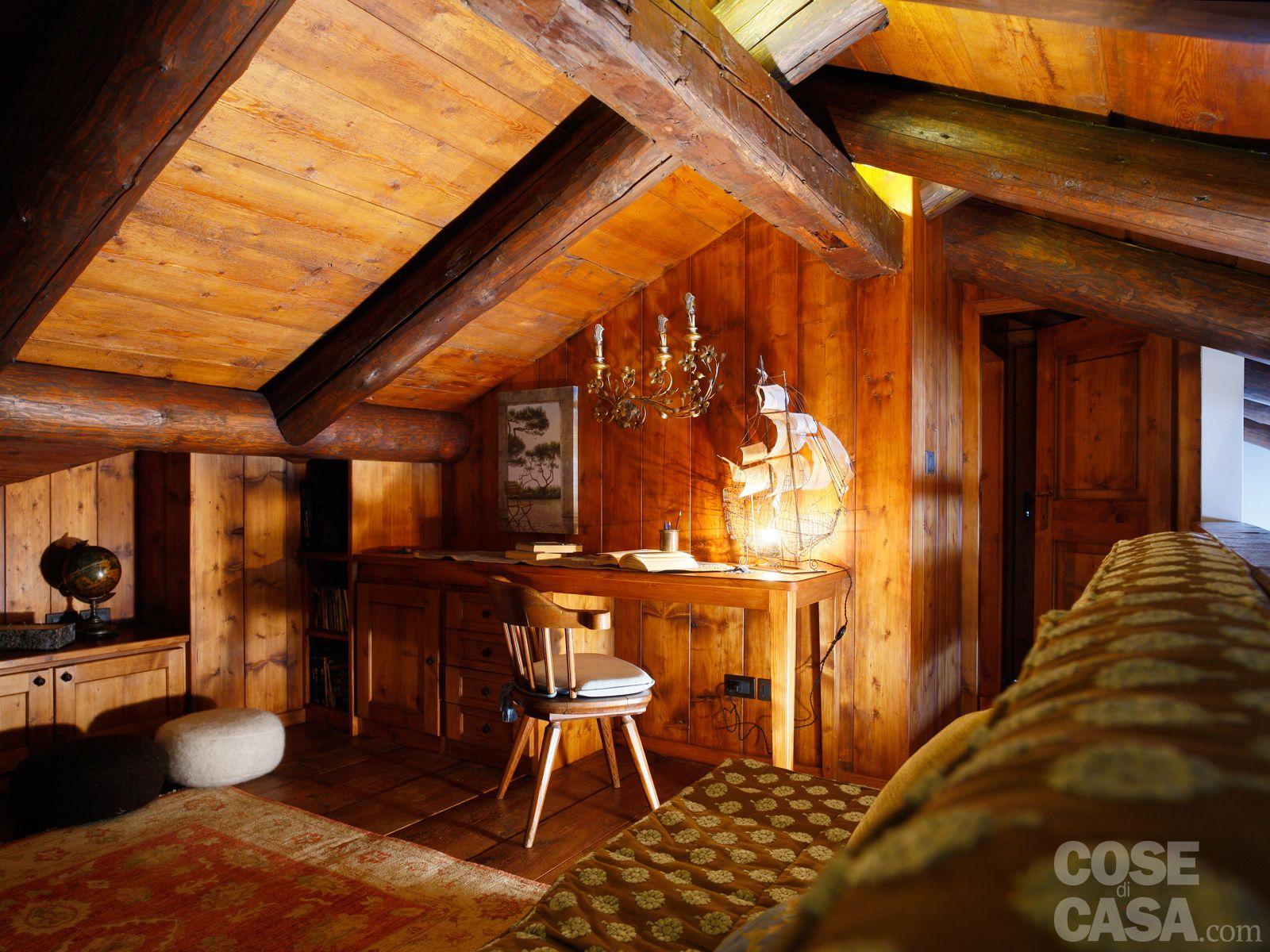 Soppalco In Legno Per Esterno mansarda tutta legno: nuova vita per la casa di montagna