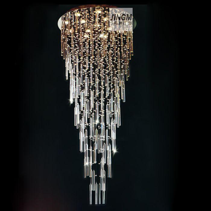 Crystal Lamp Living Room League Stairs Floor Chandelier Chandeliers Hanging Wir Us 936 00