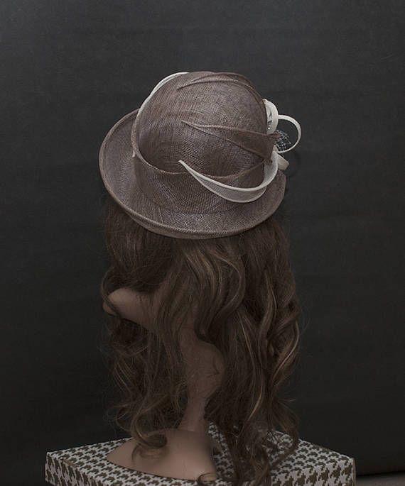 Brown Cafe Latte Colour Upbrim Cloche Hat For Women Size