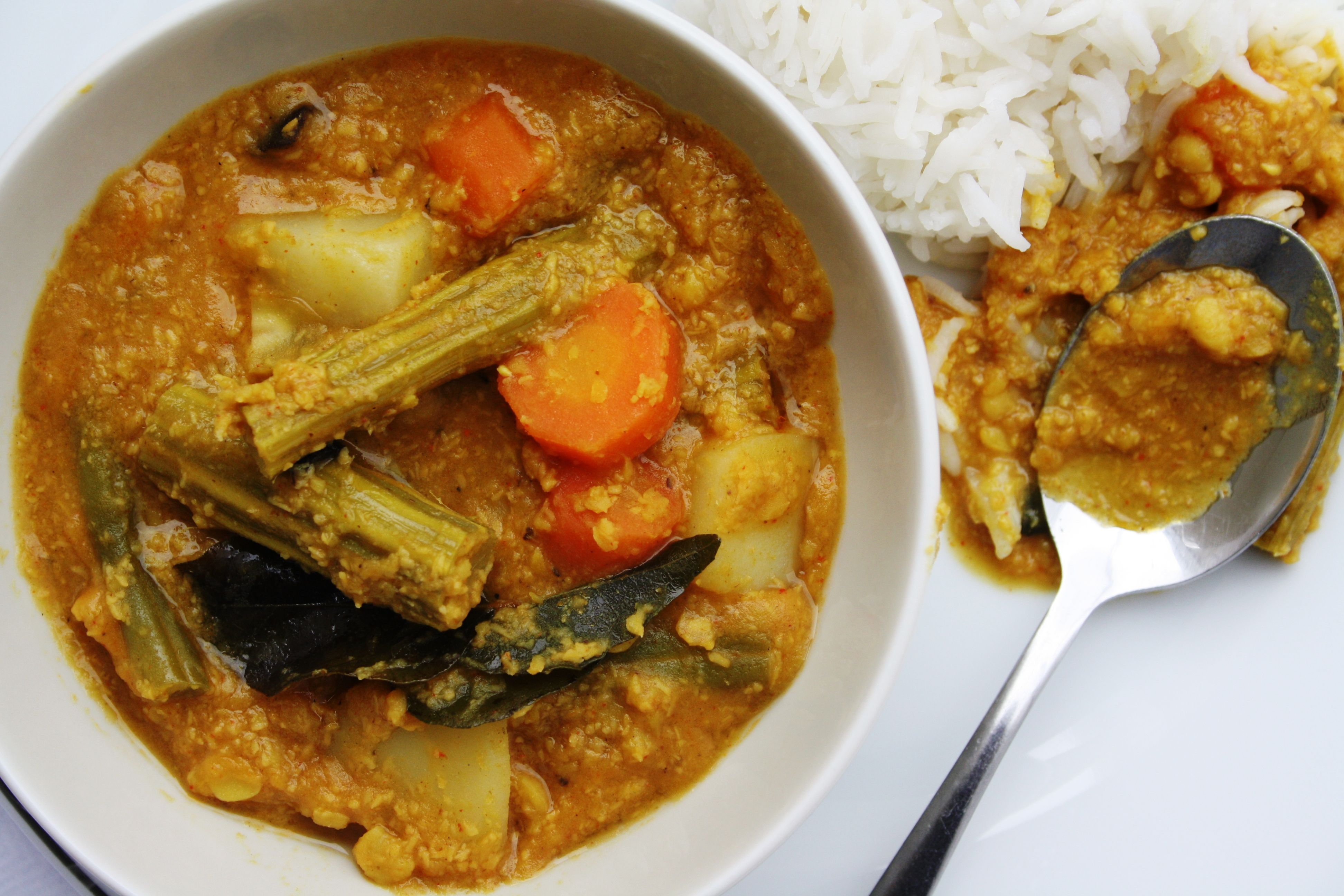 Goan khatkhate spiced vegetable curry with lentils coconut and food goan khatkhate spiced vegetable forumfinder Choice Image