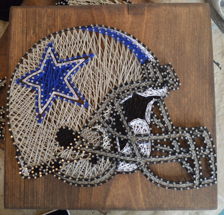 String Art: NFL Football Helmet String Art By PurplePalletDesigns On