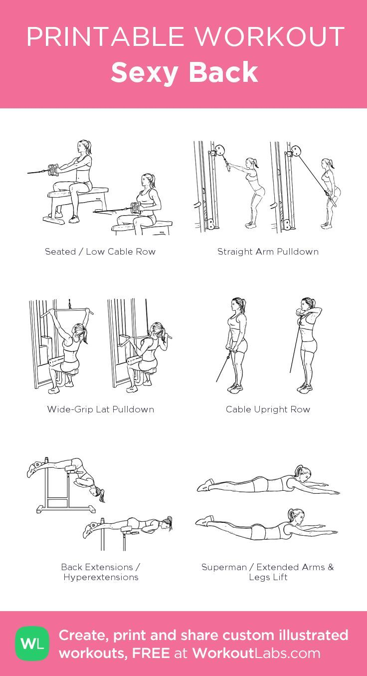 Sexy Back · Free workout by WorkoutLabs Fit