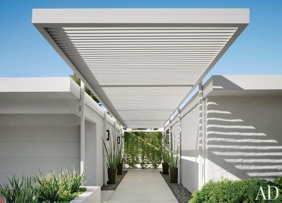 Front Entry Curb Appeal Portico Design Palm Springs Mid Century Modern Desert H Modern Outdoor Spaces Mid Century Modern Exterior Palm Springs Houses