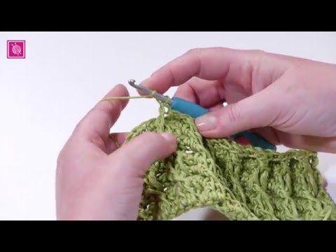 Haak tutorial kruislings rillief steek (kabelsteek) | haken ...
