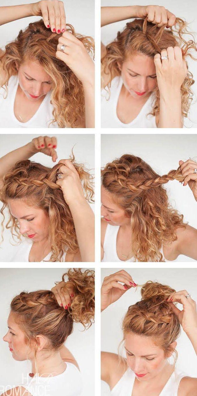 Tutorial cabello rizado rapunzel pinterest curly hair style