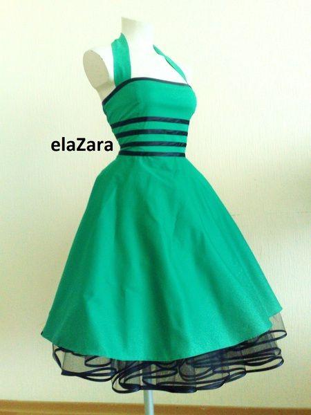 Kleid grun 50er
