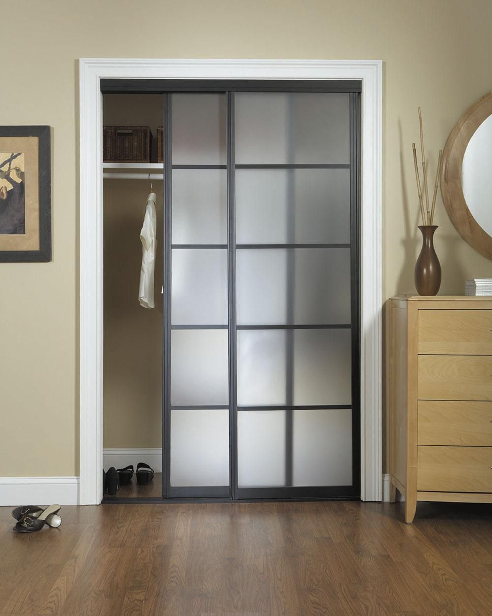 Custom closet doors installation mirrored bi fold for Custom sliding doors