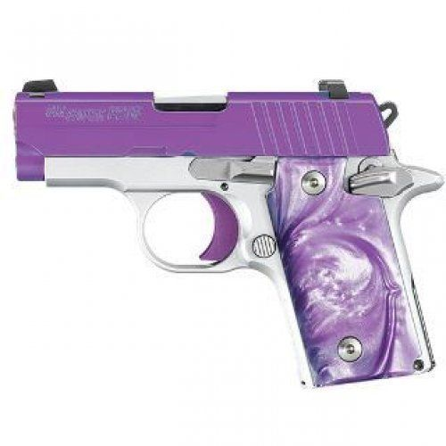 Purple Passion features: • Stainless steel slide coated in Purple Cerakote™ • Alloy frame with Arctic Frost finish • Polished controls with Purple trigger • Purple Pear