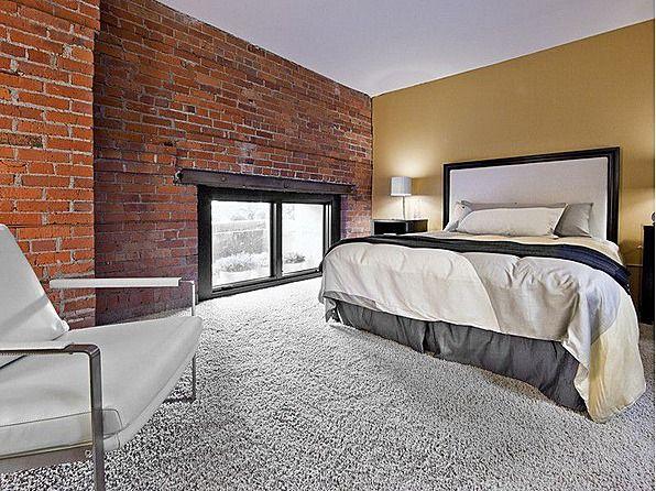 Brick Walls Meet Plush Carpet Perfection Dreamy Bedrooms Plush Carpet Home Decor Home