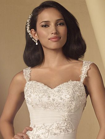 Beaded Strap Sleeves Colors White Metallic Ivory Alfred Angelo Bridal Accessories