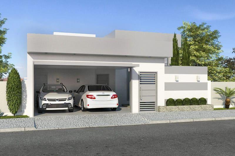 Plano de casa moderna de un piso dreamhouse pinterest for Casa minimalista 7x20