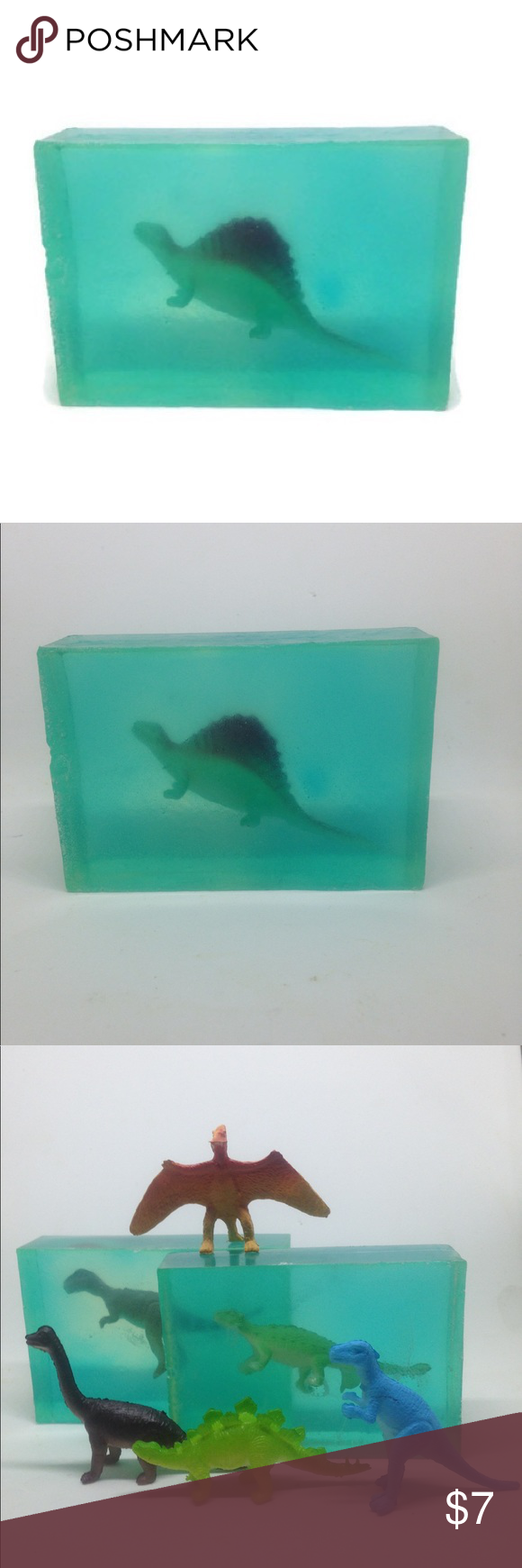 Photo of Kids Clear Soap With Mini Dinosaur Toy inside 4oz Just for kids that needs a lit…