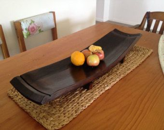 Large Rustic Wine Barrel Bowl Or Platter Made From Aged
