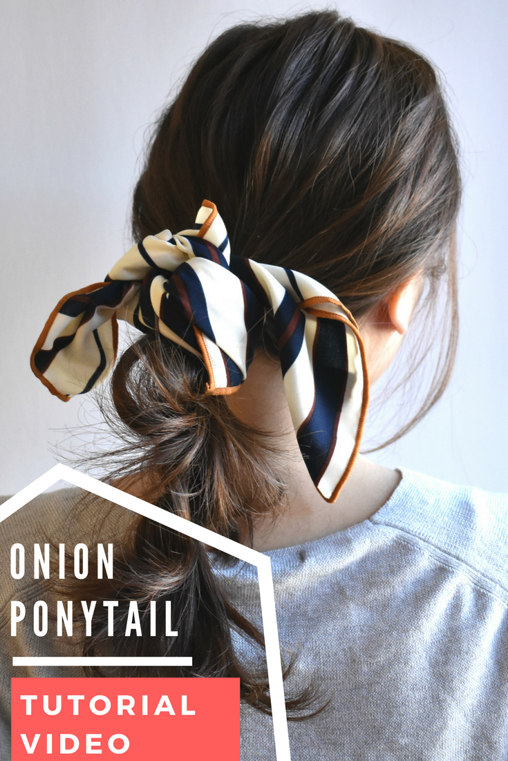 Tutorial Video Its Not Braids We Call It Onion Ponytail Learn
