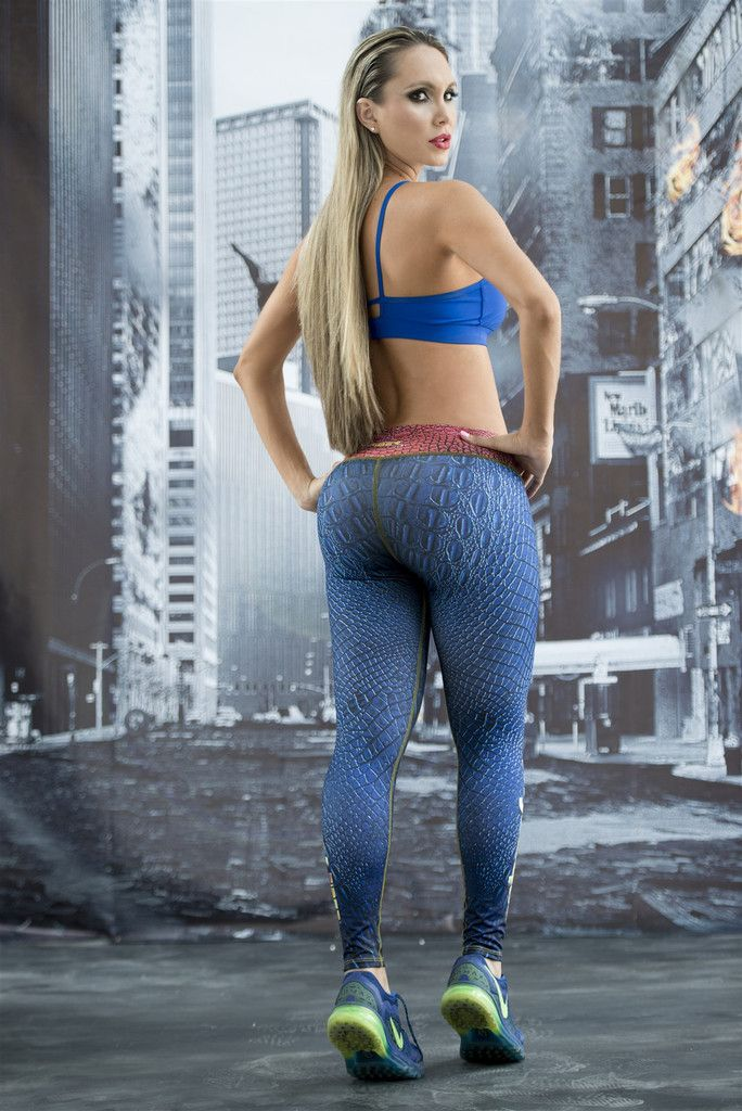 Mystique - X-Men - Super Hero Leggings - Fiber - Roni Taylor Fit - 3 ... 4698676824c1