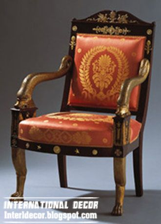 Vintage Furniture From England | UK Antique Chair Style, Red Arm Chair From  Old Furniture