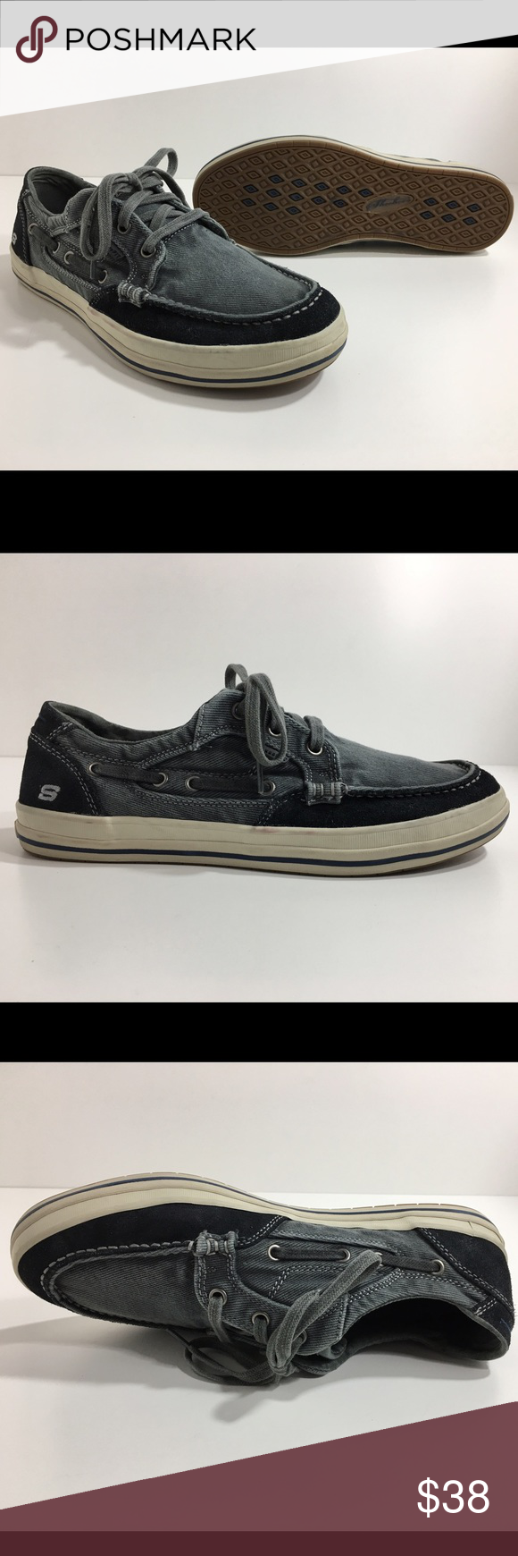 5a20b3ce1232 Skechers Diamond Back Leroy Canvas Boat Shoe Men s Offering the most  sanitary pre-owned footwear