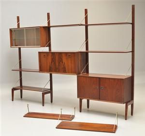 Organic shelves from 1950's, produced by WeBe Meubelen, Holland