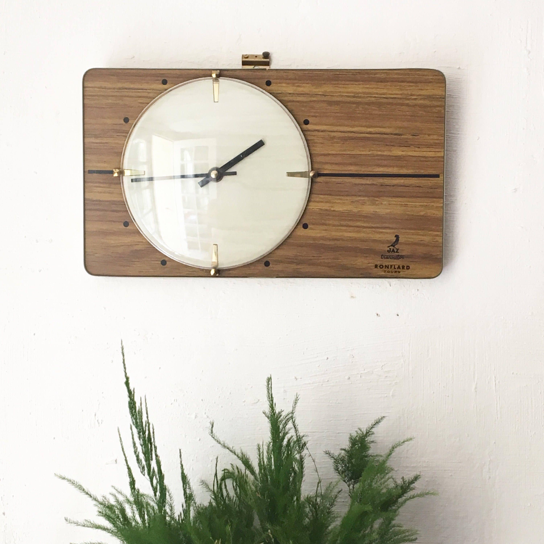 horloge murale vintage soleil - mid century starburst clock