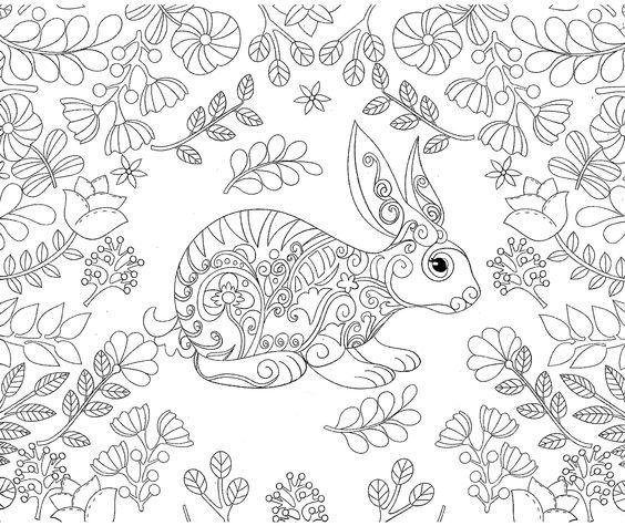 Pingl par barbara sur coloring rabbit pinterest - Mandala lapin ...