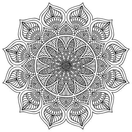 Mandala Round Ornament Pattern Vintage Decorative Elements Hand Drawn Background Islam Arabic Indian Ottoman Motifs Boyama Sayfalari Mandala Mandala Desenler