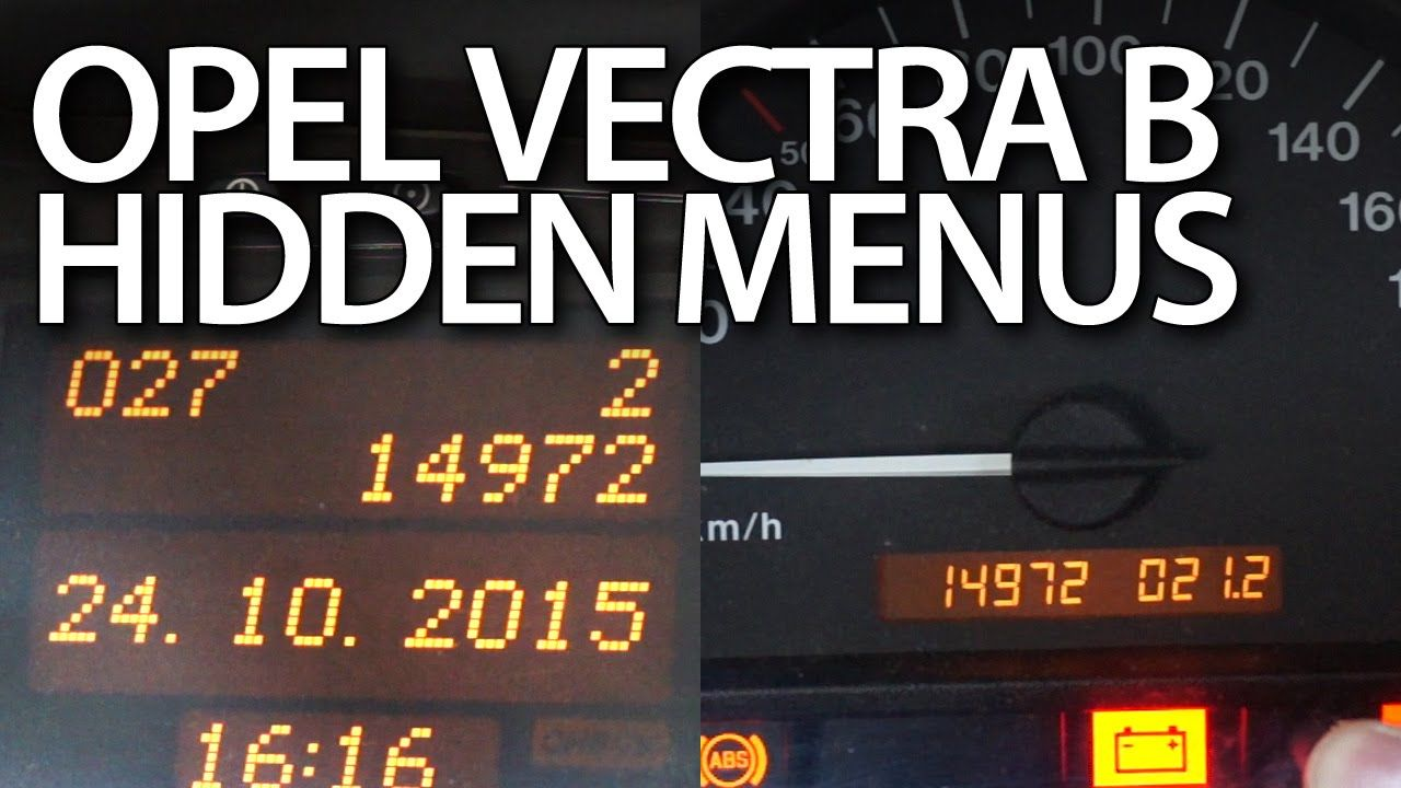 How To Enter Hidden Menu In Opel Vectra B Instrument Cluster Mid Vauxhall Zafira Central Locking Wiring Diagram Display Cars