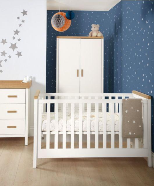 Kingston Cot Toddler Bed White Oak