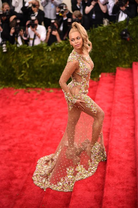 b31ef044cf 100 Most Iconic Celebrity Dresses of All Time - Red Carpet Dresses -  Beyonce - Met Gala