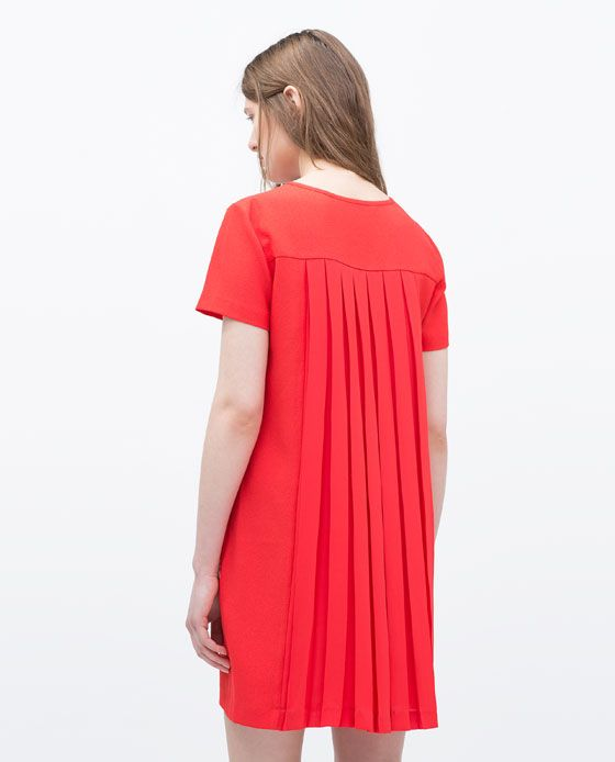 ZARA - NEW THIS WEEK - BACK PLEATED DRESS