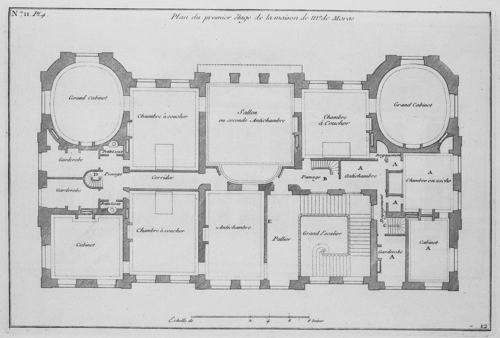 92 Hôtel de Biron, first floor plan FloorPlan Pinterest