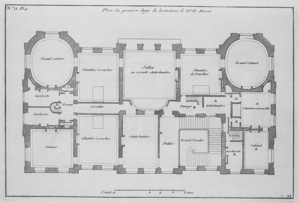 Plan Premier Etage By Rmoisescot How To Plan Architectural Floor Plans Vintage House Plans