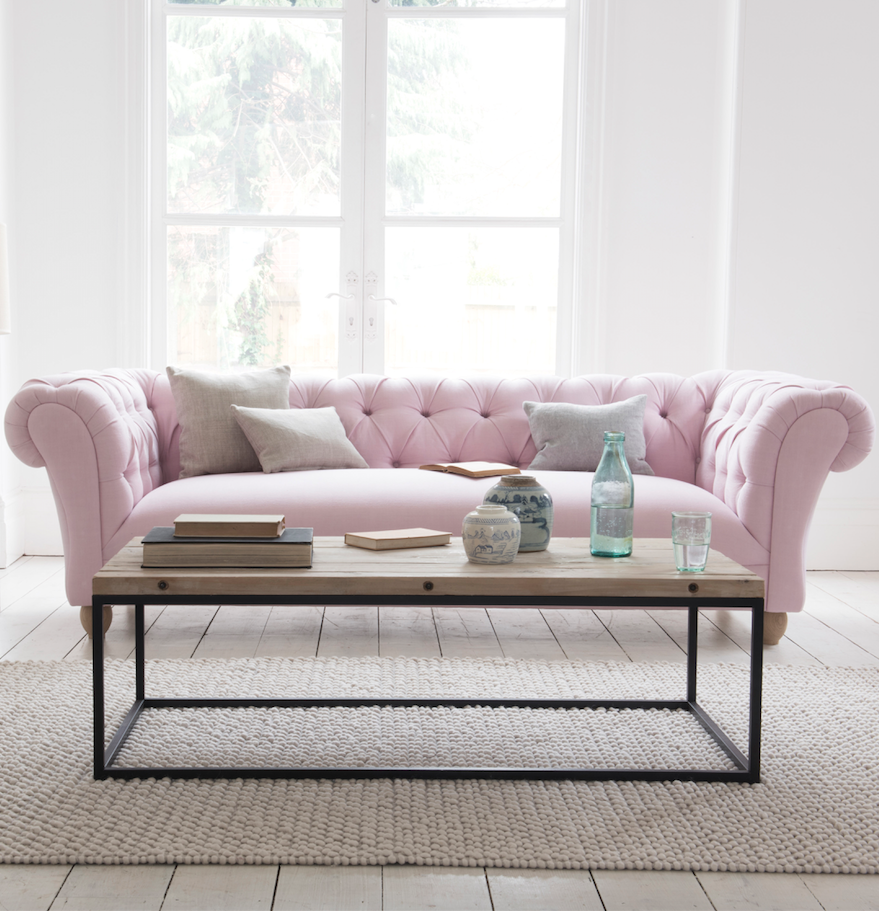 Young Bean Sofa | Chesterfield sofa, Pastel pink and Chesterfield
