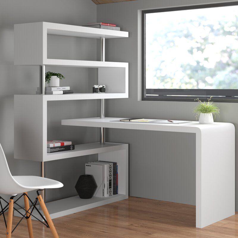 L Shaped Desk With Bookshelf L Shaped Desk Bookcase Credenza Desks