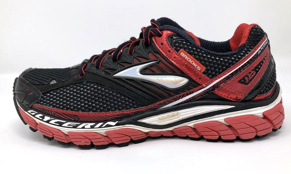 b7cde5af9ddde Brooks Mens Size 8 M Glycerin 10 Black Red Sport Athletic Running Training  Shoes