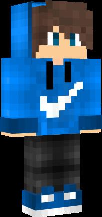 Nike Boy Blue Nova Skin Minecraft Skins Minecraft Minecraft Wallpaper