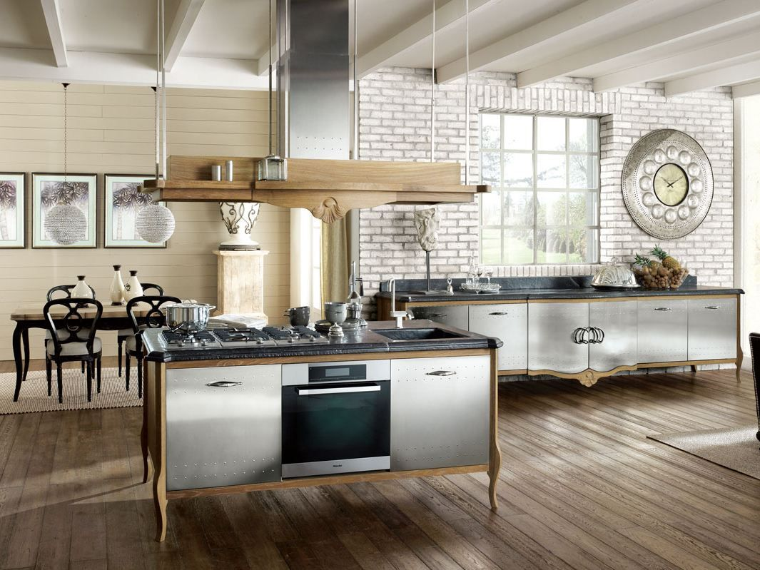 Marchi Group Cucine Fitted Wood Kitchen Dechora Composition 04 Dechora Collection By
