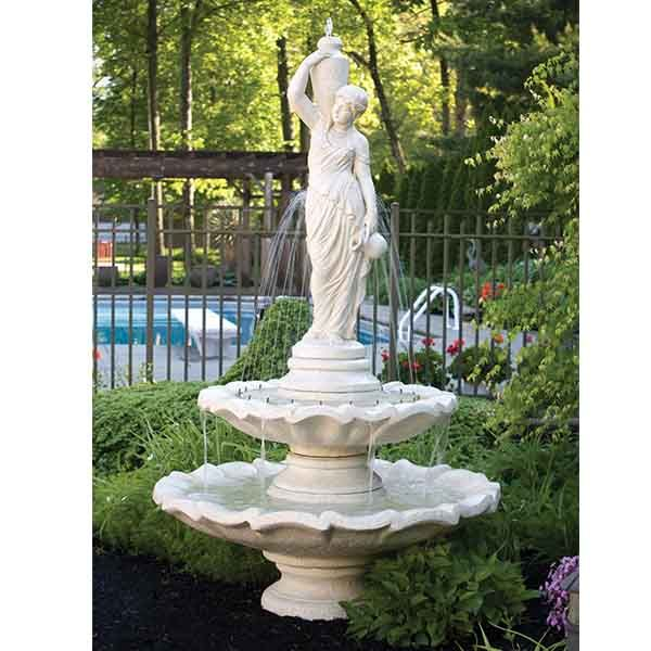 Grecian Lady Two Tier Fountain MS 3440