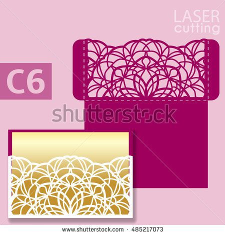 Laser Cut Wedding Invitation Card Template Vector Wedding