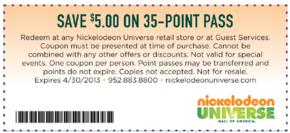 Free Nickelodeon Universe Coupons Nickelodeon Coupons Universe