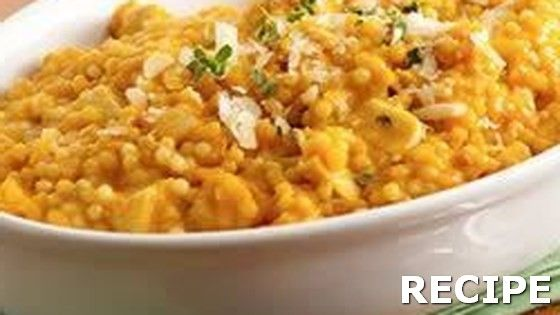 Pumpkin Pastina Recipe Recipe : Winter squash and tiny pasta, turkey chunks and Parmesan simmered in a rich chicken broth and seasoned with thyme make a delicious warming supper on a cool autumn evening.