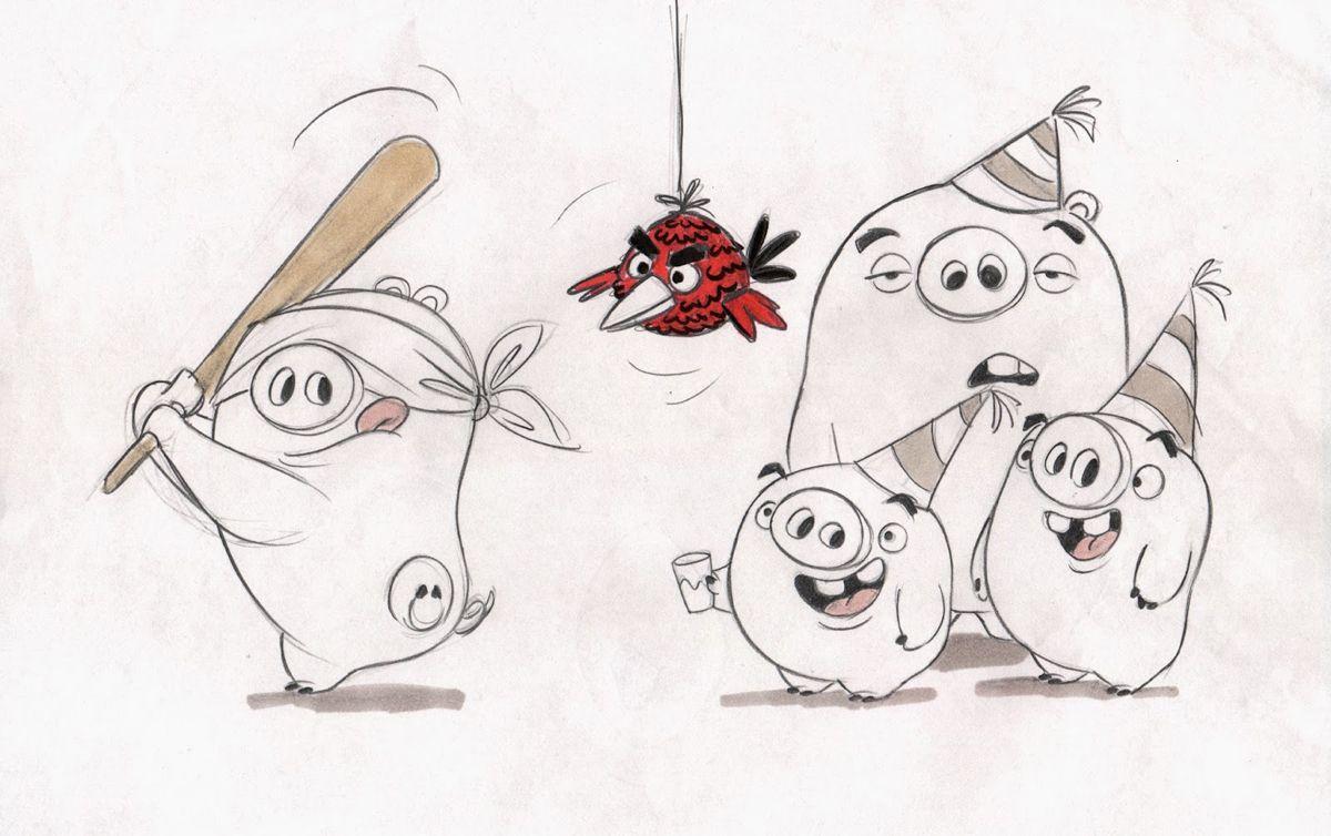 Como Desenhar O Pássaro Amarelo De Angry Birds Personagem: Desenhos De Sandro Cleuzo Para O Filme Angry Birds
