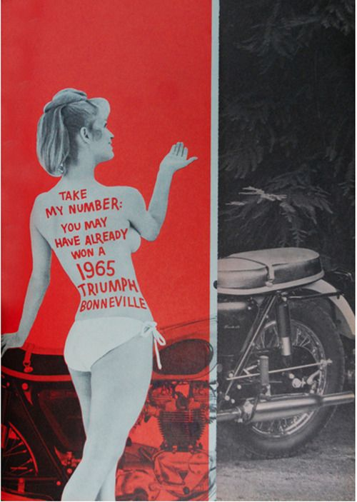Triumph motorcycle advertisement, 1965