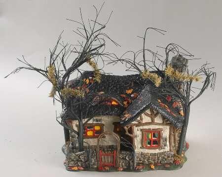 department 56 snow village halloween deep woods haunt boxed