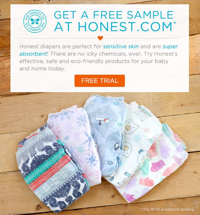 Honest Diaper Trial Free Baby Stuff Baby Freebies Baby Samples