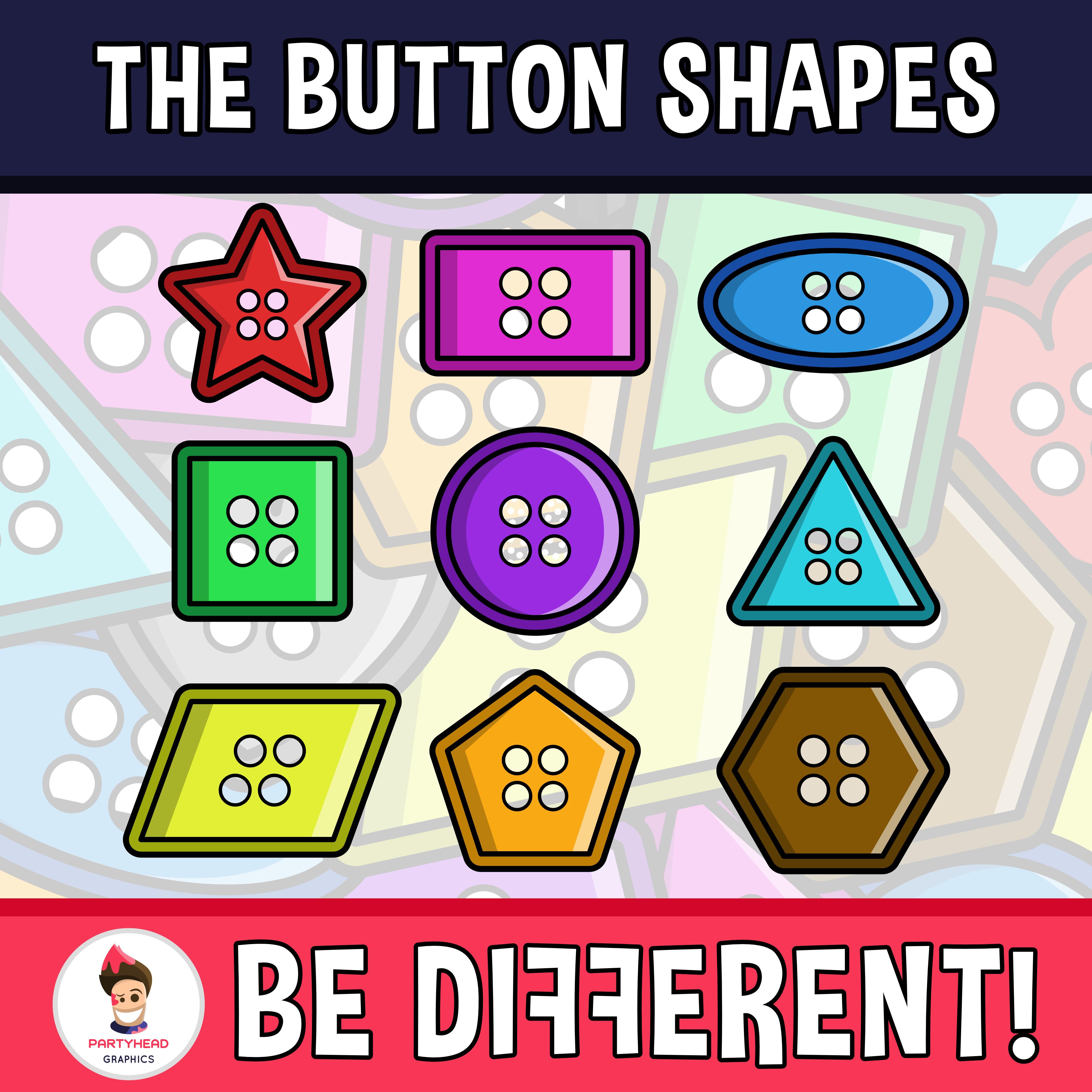 Button Shapes Clipart