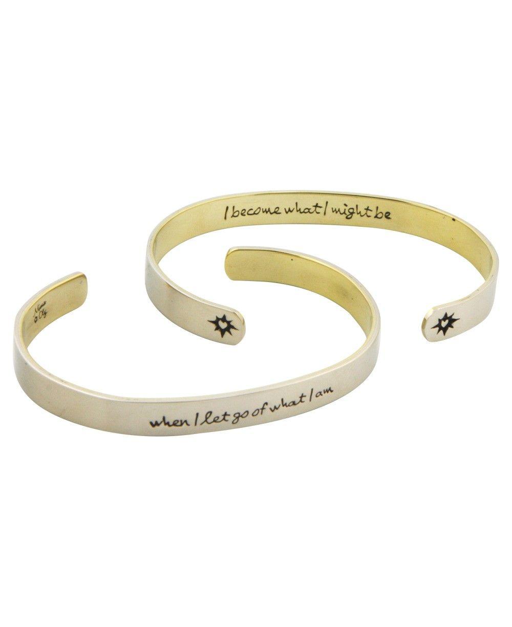 Inspirational Jewelry Word Art Bracelet Lao Tzu Quote